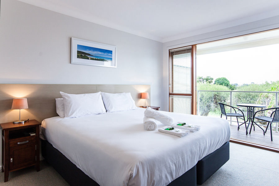 Royal Palms Resort Accommodation Featuring Queen Bedroom With Balcony
