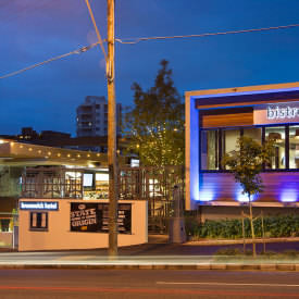 Enjoy A Meal In The Bistro Or Beer Garden At Brunswick Hotel