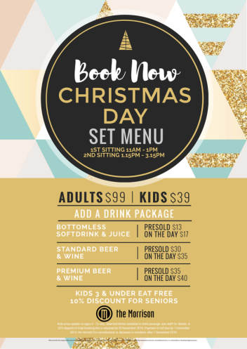 BOOK NOW FOR CHRISTMAS DAY LUNCH
