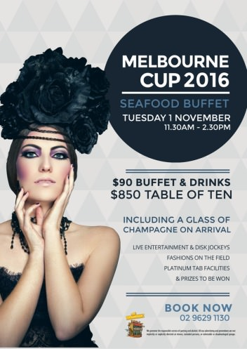 Melbourne Cup Day Seafood Buffet Lunch